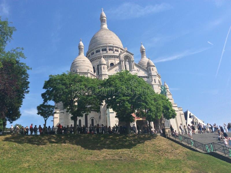 Montmartre hermoso fotografía de archivo libre de regalías