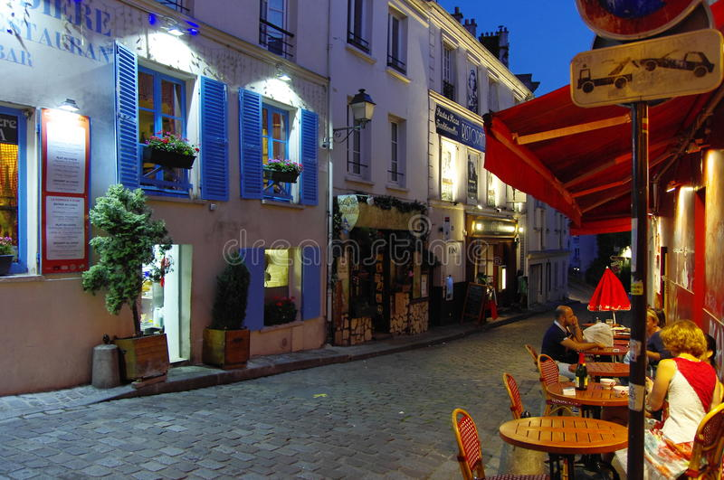 Montmartre hill in the evenin, Paris, France. royalty free stock photo