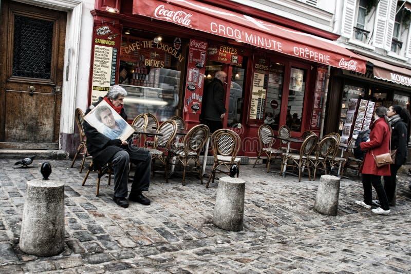 Montmartre, Parijs. royalty-vrije stock afbeeldingen