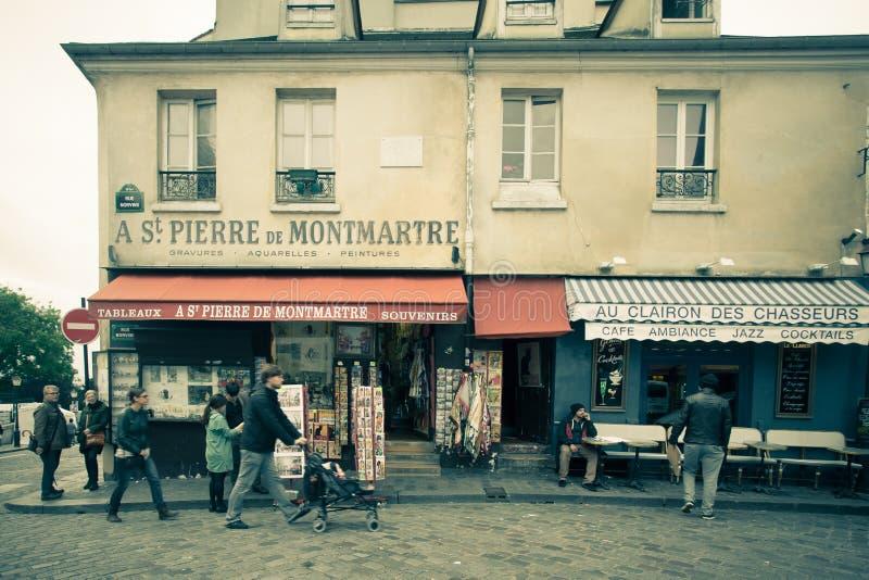 Montmartre Parijs stock afbeelding