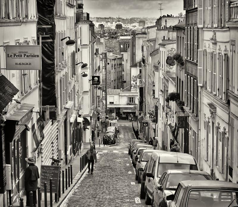 montmartre Paris ulica obrazy stock