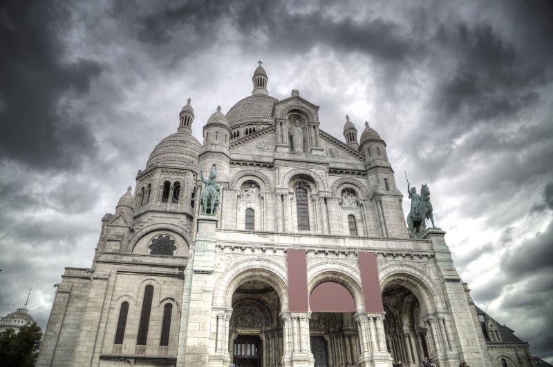 Montmartre Paryż obrazy royalty free