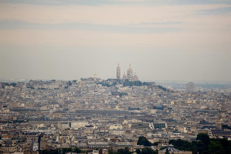 Montmartre and Sacre Coeur, Paris, France royalty free stock image