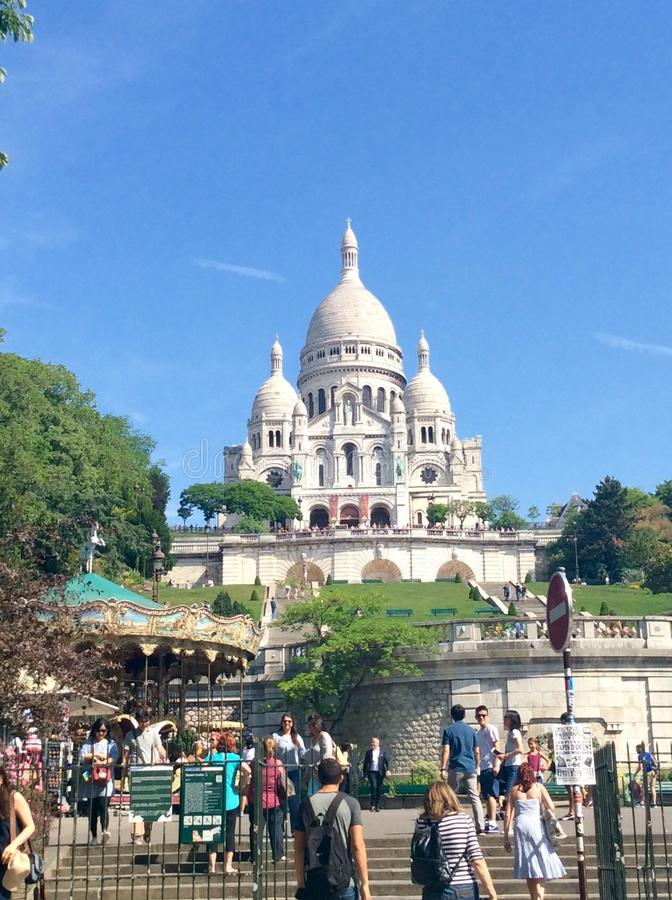 Montmartre view royalty free stock photo