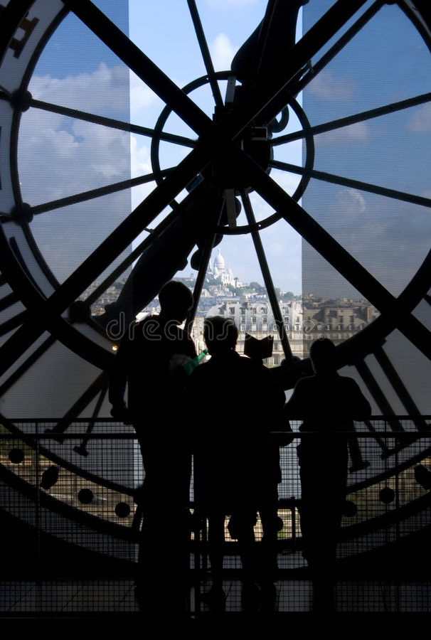 Montmartre vom Orsay Museum - Paris stockfoto