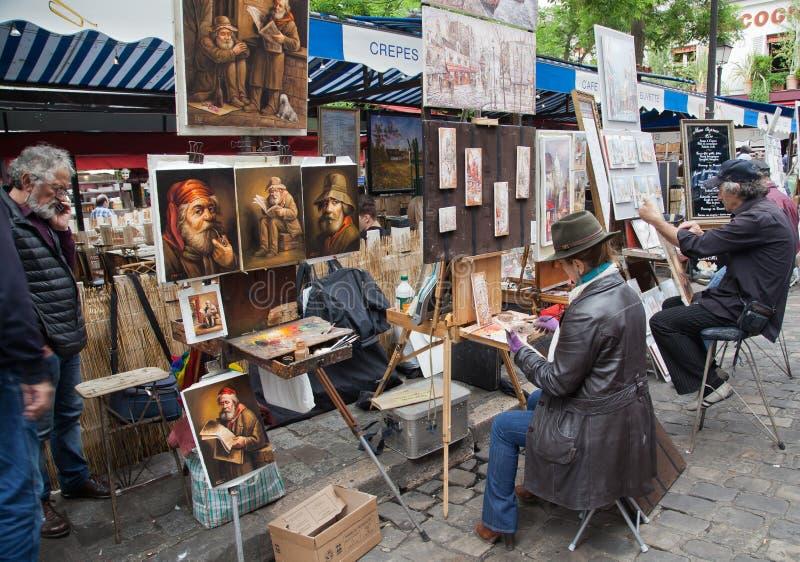 Montmartre w Paryż obraz royalty free