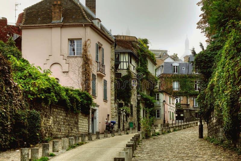 Montmartredistrict in Parijs stock afbeelding