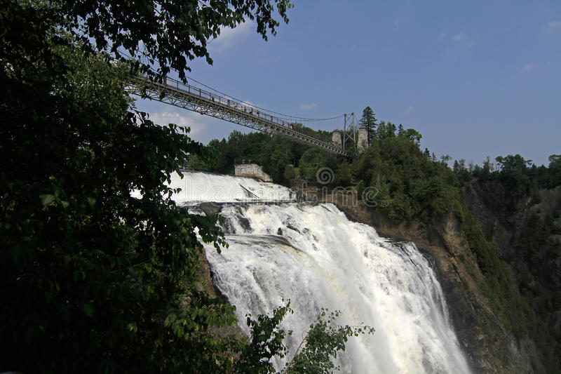 Montmorency-Fälle, Quebec, Kanada stockfotos
