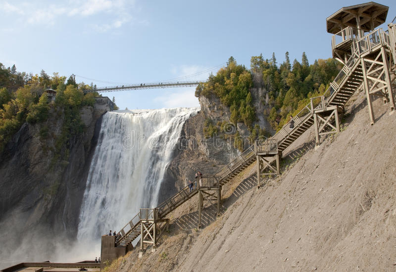 Montmorency Falls. In Quebec, Canada royalty free stock photography