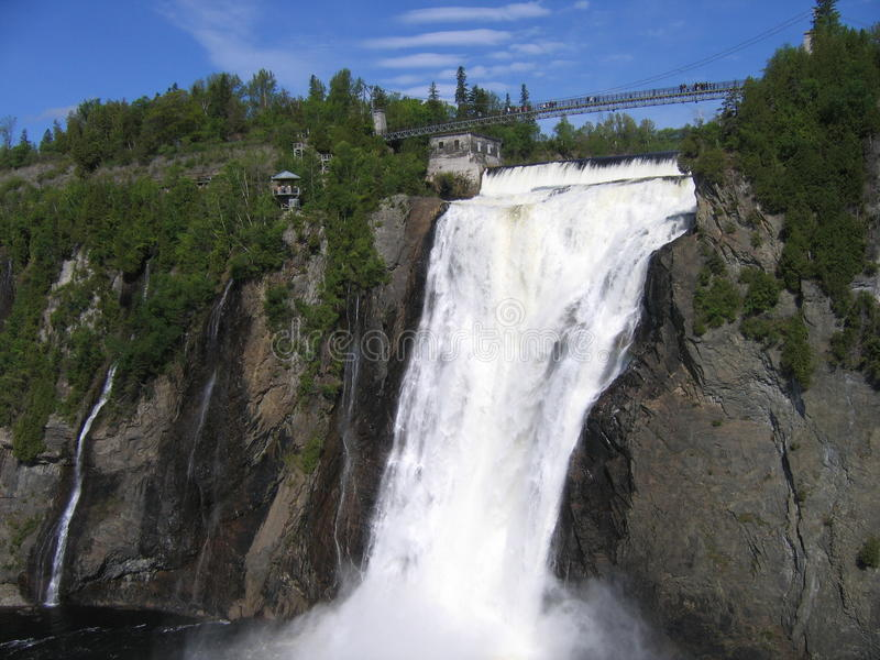 Montmorency Falls. In Quebec Canada stock photo
