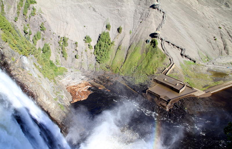 Montmorency Falls. A view of the Montmorency Falls in Quebec City royalty free stock photo