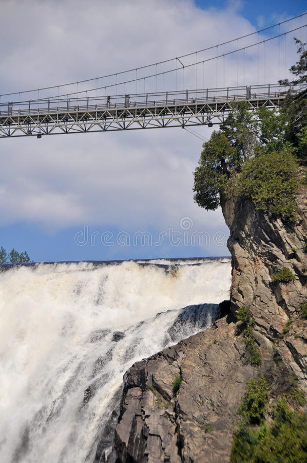 Montmorency Falls, near Quebec city. (Canada stock image