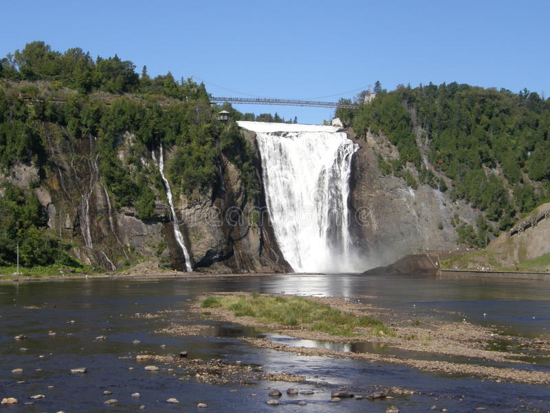 The Montmorency Falls in Quebec City, Canada. The Montmorency Falls or Chutes Montmorency in Quebec City, Canada stock photos