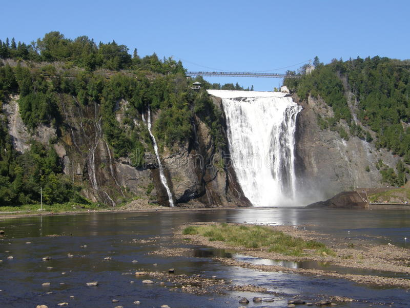The Montmorency Falls in Quebec City, Canada royalty free stock images