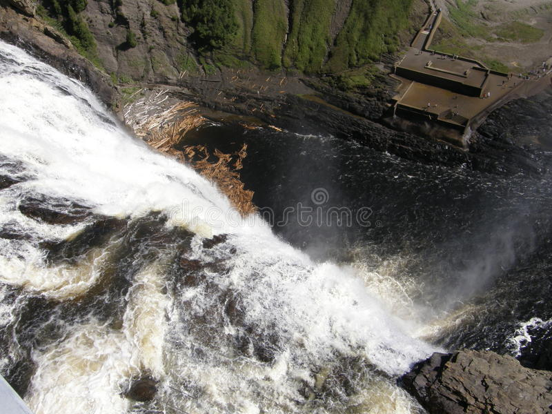 The Montmorency Falls in Quebec City, Canada royalty free stock photos