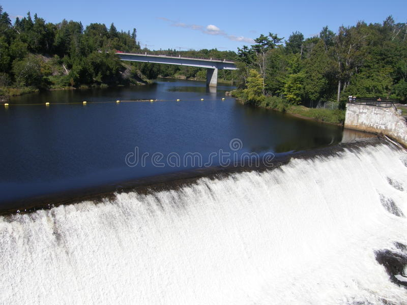 The Montmorency Falls in Quebec City, Canada royalty free stock image