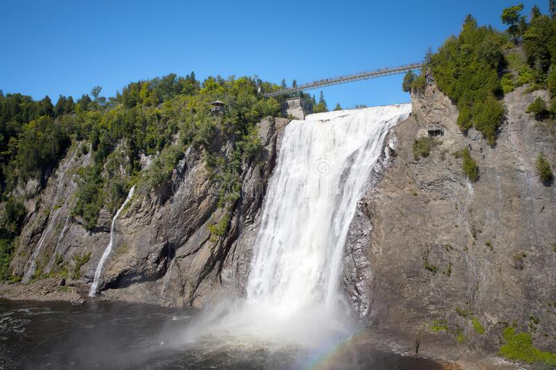Montmorency Falls in Quebec stock image