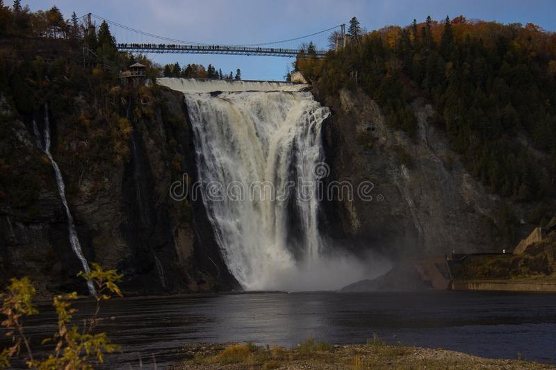 Montmorency Falls. In Quebec City, Canada royalty free stock photo