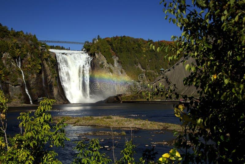Montmorency-Wasserfall in Quebec stockbild
