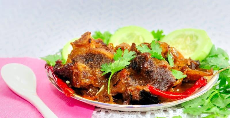 Montone indiano Korma (curry del montone, curry della carne) fotografia stock libera da diritti