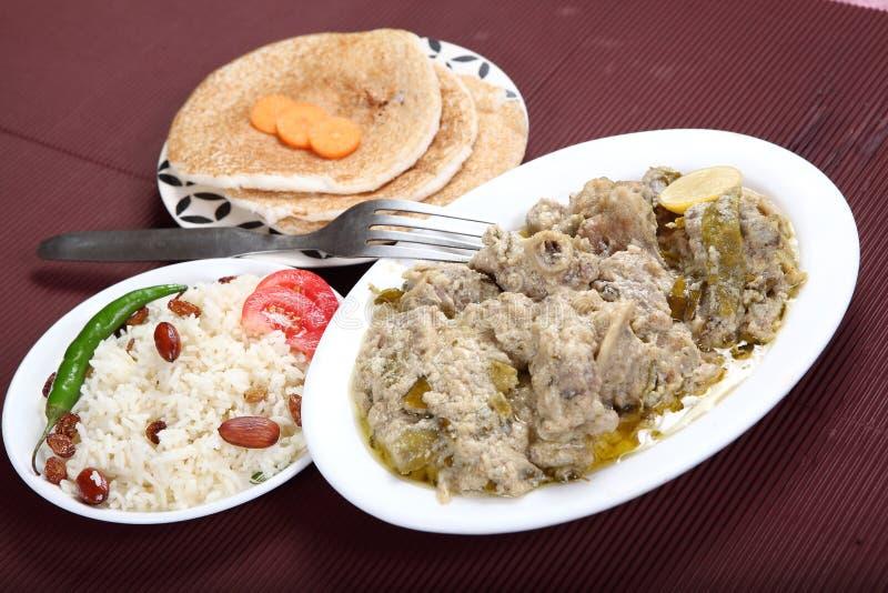 Montone Yakhni, Kashmiri Stew di carne fotografia stock libera da diritti