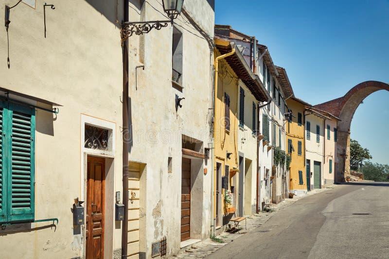 Montopoli im Val d'Arno Toskana, Itaky stockbild