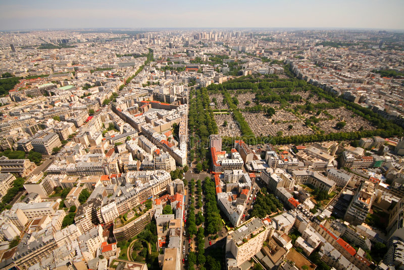 montparnasse巴黎视图 免版税库存照片