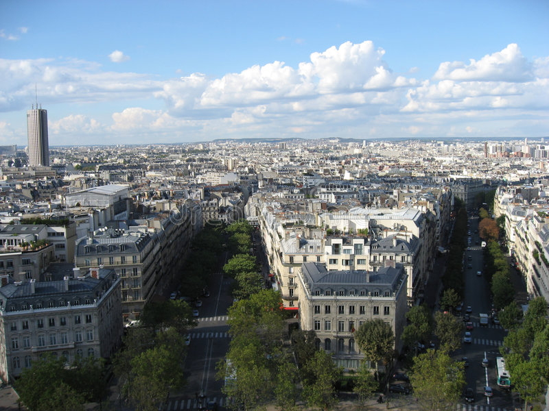 Montparnasse Tower And The City Of Paris Stock Image