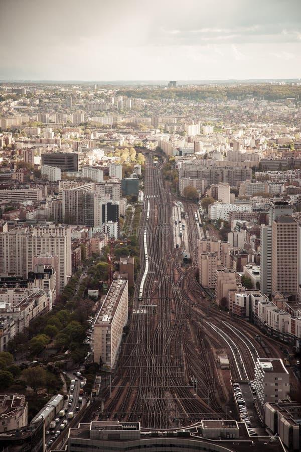 Montparnassestation, Parijs, Frankrijk stock foto
