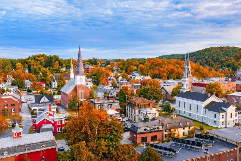 Montpelier, Vermont linia horyzontu zdjęcie royalty free