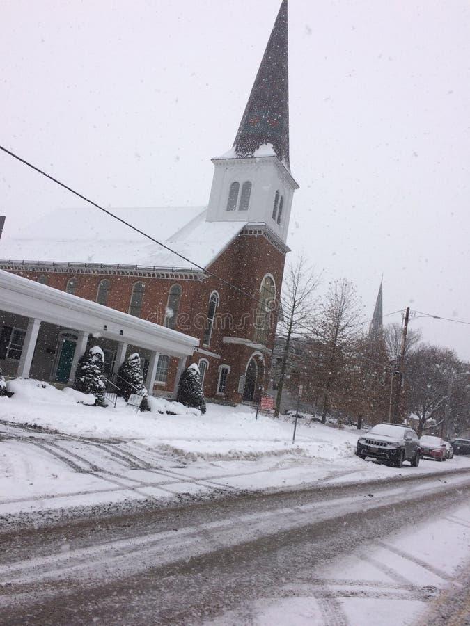 Montpelier, Vermont Podczas Śnieżnej burzy fotografia royalty free