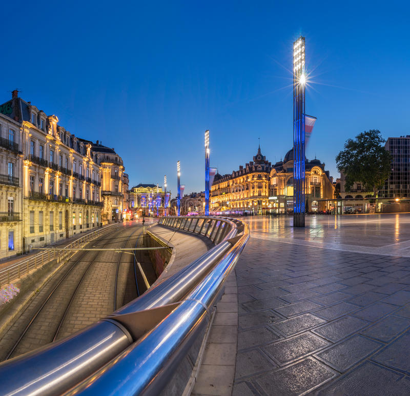 Montpellier stock photography