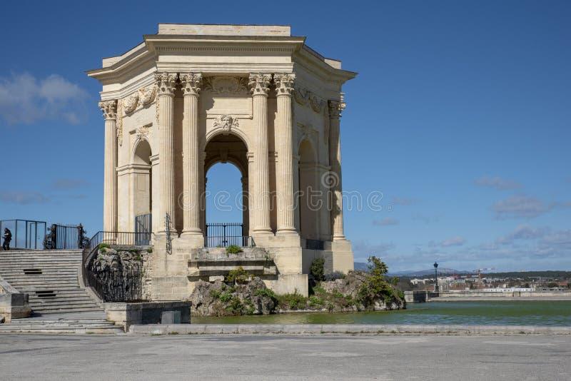 Montpellier peyrou monument royalty free stock photos