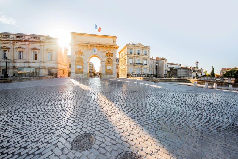 Montpellier-Stadt in Frankreich lizenzfreie stockfotos