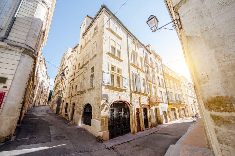 Montpellier-Stadt in Frankreich stockbild