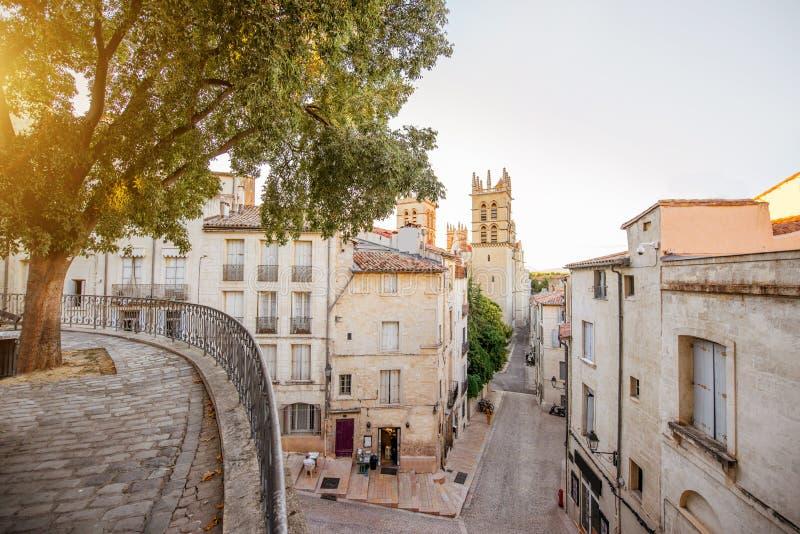 Montpellier-Stadt in Frankreich stockbilder