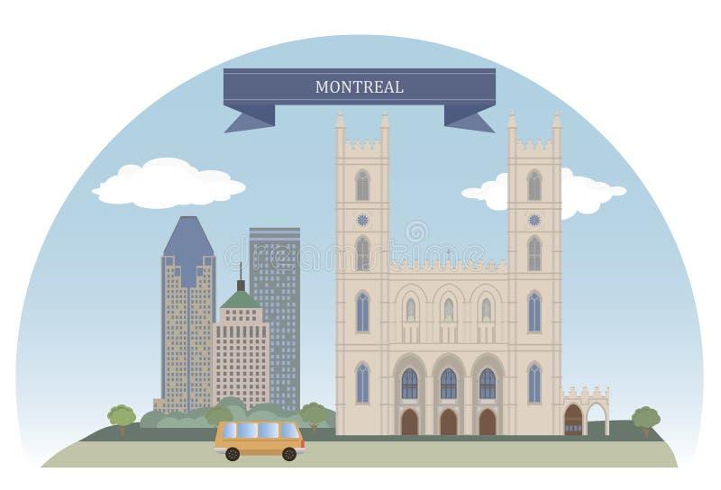 Montréal, Canada illustration de vecteur