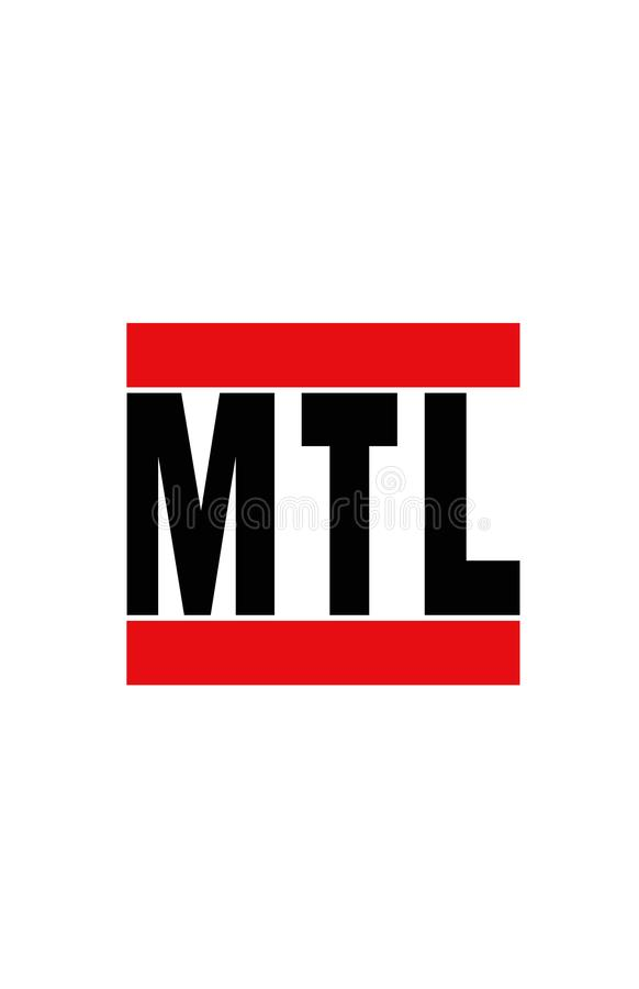 Montréal, Canada illustration stock
