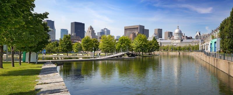 Montréal du centre en été photographie stock libre de droits