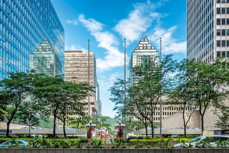 Montréal du centre moderne photographie stock libre de droits