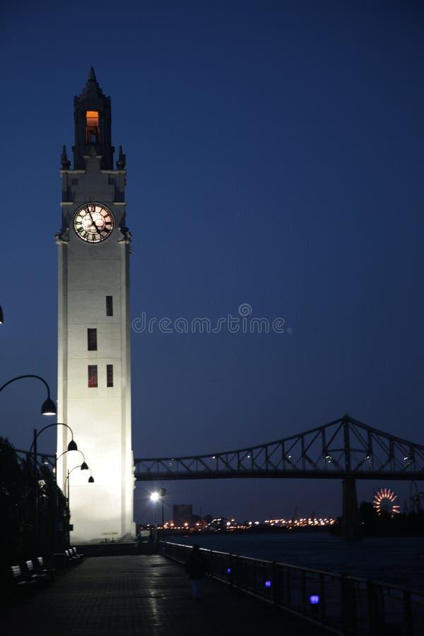 Montréal la nuit image libre de droits