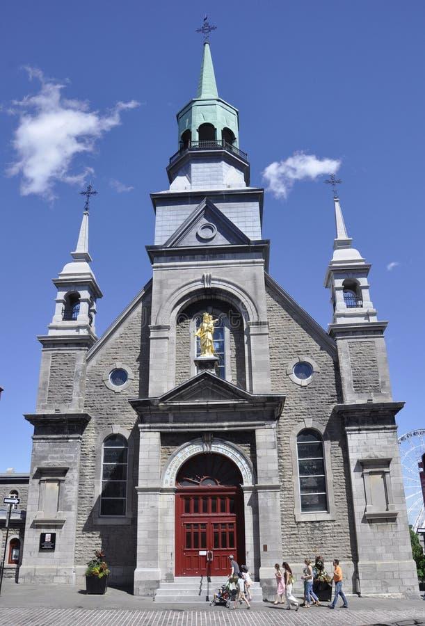 Montréal, le 26 juin : Chapelle Notre Dame de Bonsecours Building sur la rue de Saint Paul de Montréal dans la province du Québec photographie stock