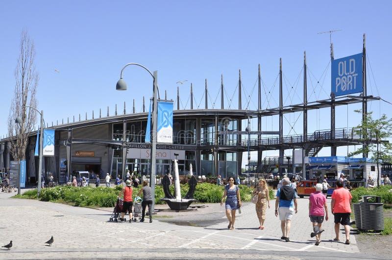 Montréal, le 26 juin : Pavillon Jacques Cartier de port de Vieux de Montréal dans le Canada photographie stock libre de droits
