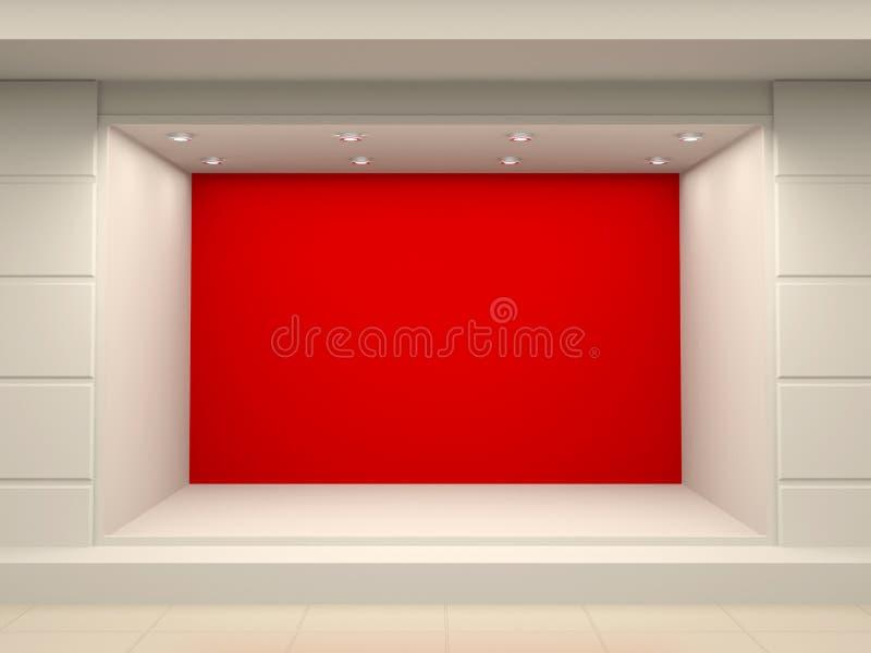 Montra vazia da loja ilustração stock
