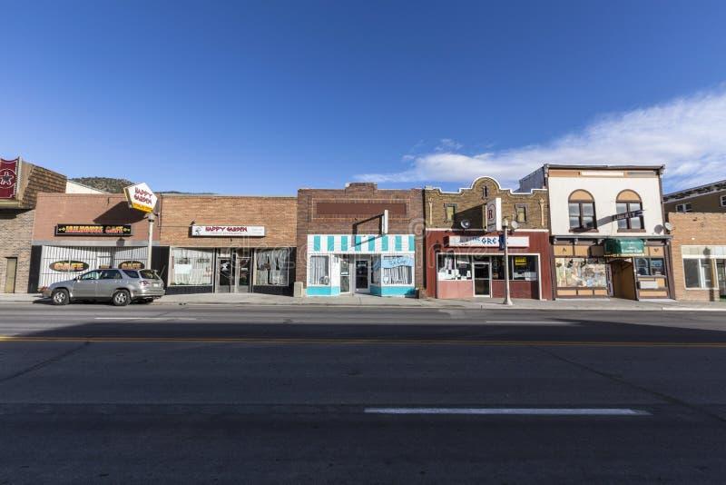 Montras de América da cidade pequena foto de stock royalty free