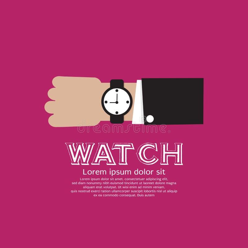 Montre-bracelet. illustration stock
