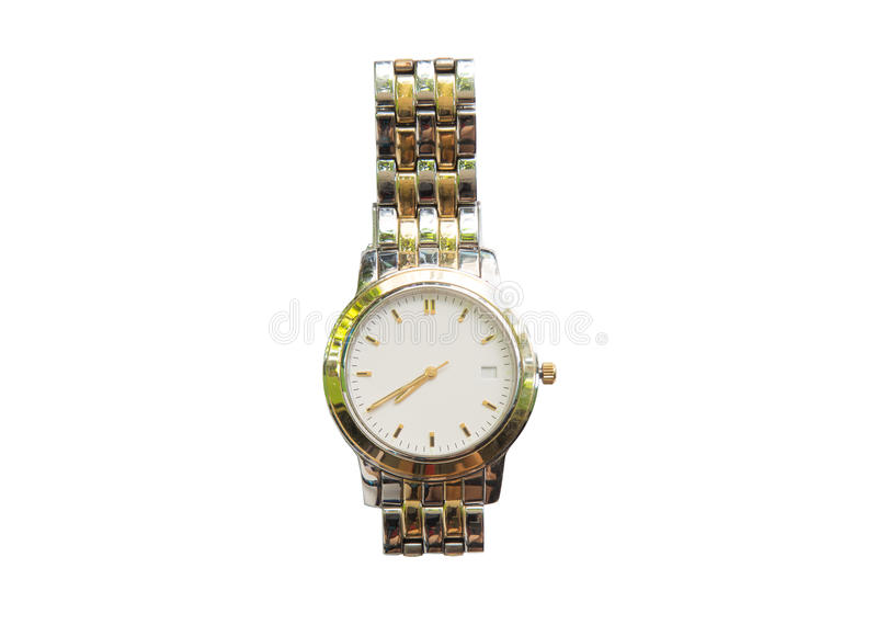 Download Montre-bracelet Argentée D'isolement Sur Le Fond Blanc Photo stock - Image du classique, second: 87709542