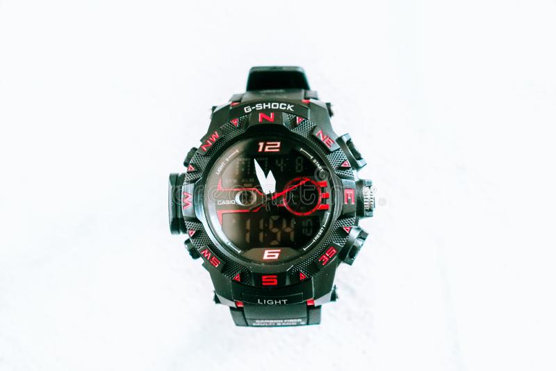 Montre-bracelet de G_shock images libres de droits