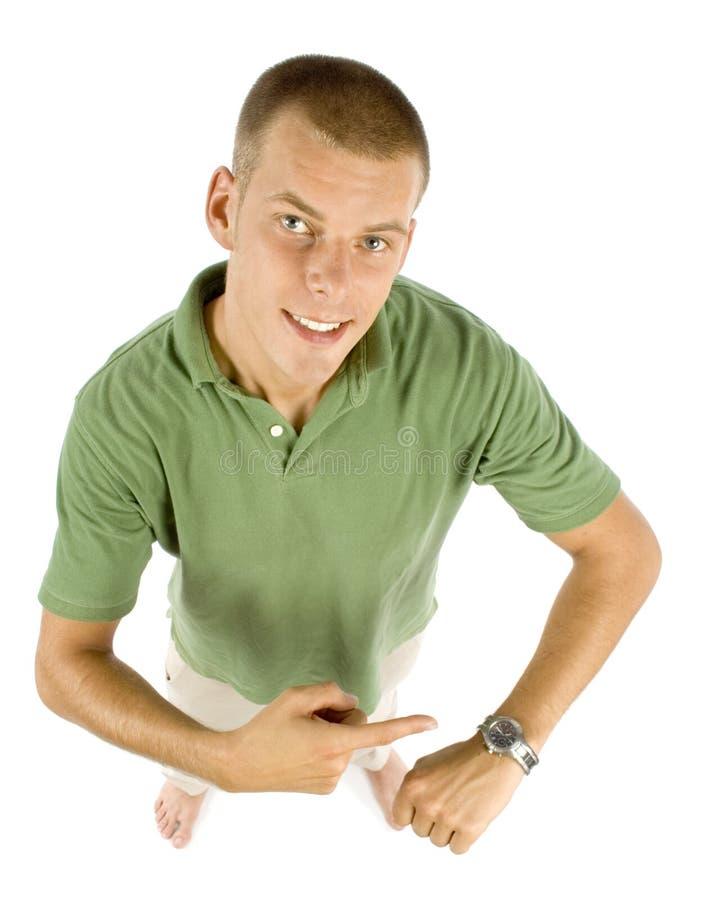 montre-bracelet de point d'homme image stock