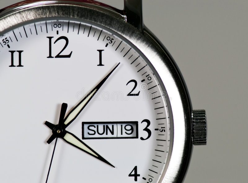 montre-bracelet en acier photos stock